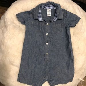 Carters Baby Boy chambray romper